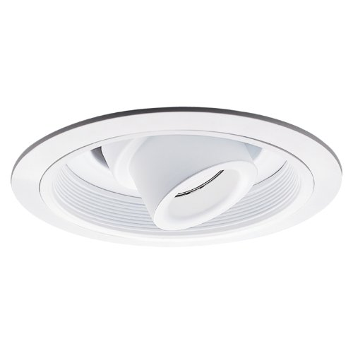 Halo Recessed 1412W 6-Inch Low Voltage Adjustable Spot with Transformer Trim and Baffle, White