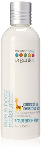 NATURE'S BABY ORGANICS Lotion Face & Body - Fragrance Free-Paraban Free 8 OZ