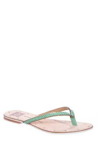 Dolce Vita Orie Flip Flop Sandal - Teal Patent Leather