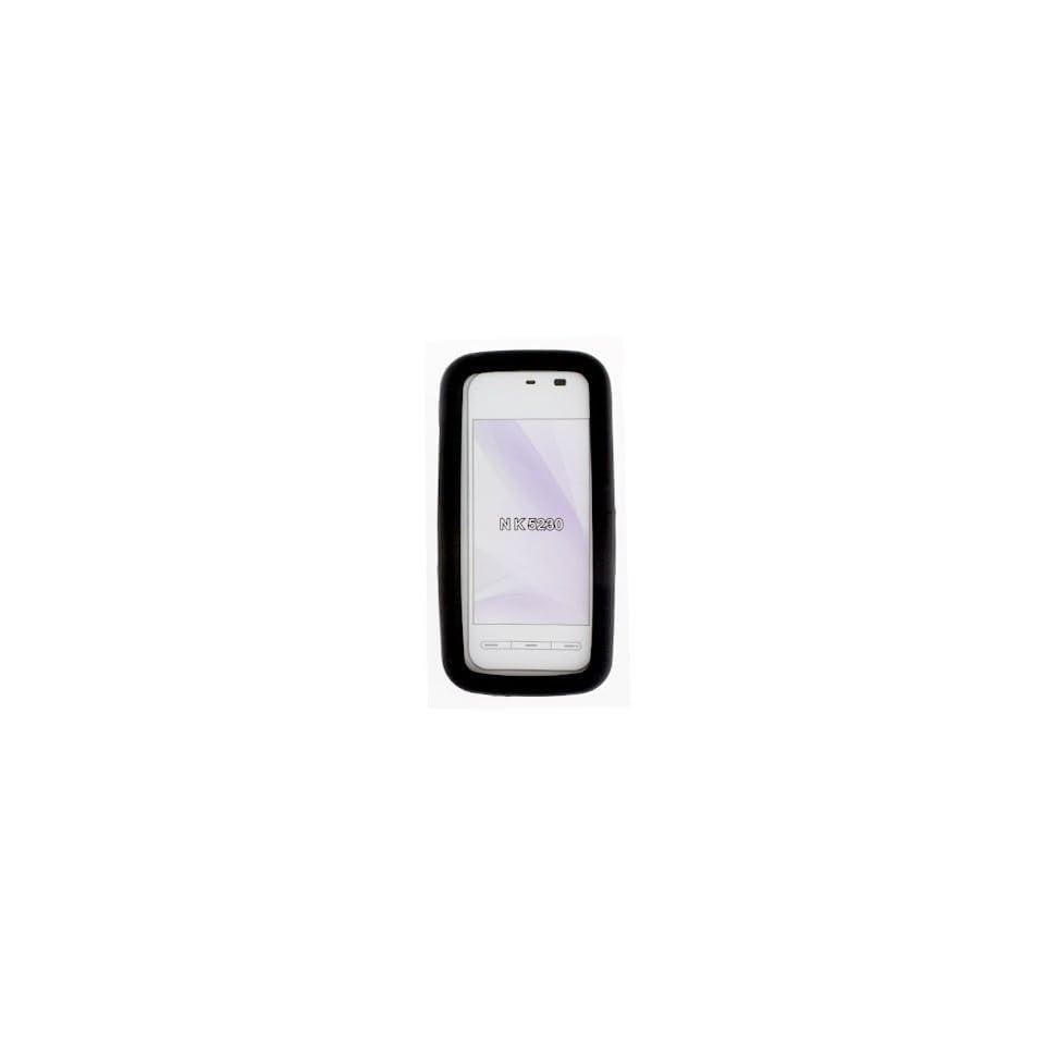 Nokia Nuron 5230 Solid Black Silicon Skin Case