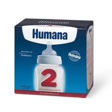 Humana 2 Latte di Proseguimento per Bambini, con Prebiotici GOS, Indicato dai 6 Mesi, in Polvere - 1400 gr