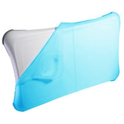 Blue Silicon Skin Cover Sleeve Anti-slip Pad for Nintendo WII FIT Balance Board (Bulk Packaging)