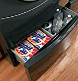 """GE 13"""" Black Washer And Dryer Pedestal With Drawer - SBSD137HBB"""
