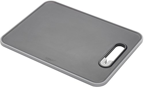 Joseph Joseph Chopping Board with Integrated Knife Sharpener, Small, Slice and Sharpen, Black