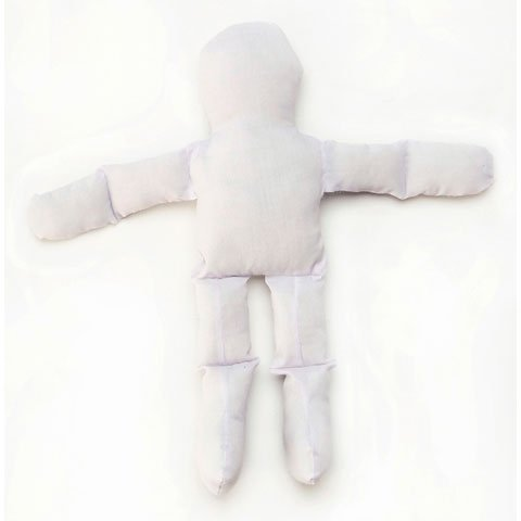 """Muslin Doll 12""""-White"""