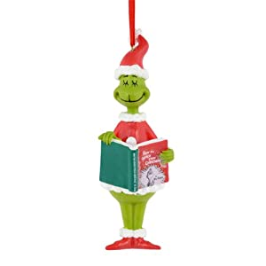 Department 56 Grinch Grinch Reading Ornament, 5-Inch