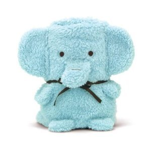 Brownlow Cuddly Elephant Baby Blanket / Receiving Blanket (Blue)