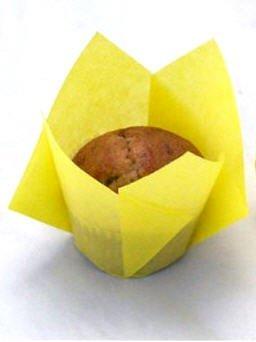 Regency Pack of 48 Tulip Standard Baking Cups, Yellow