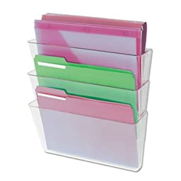 Universal 53682 3 Pocket Wall File Starter Set, Letter, Clear (4, A) Universal-lg