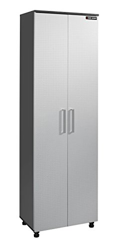 "Homestar Black & Decker Enterprises Narrow Storage Cabinet, 23.75"" x 15.38"" x 75.38"", Charcoal Stipple - 1"