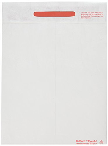 Survivor Tyvek Tamper-Indicator Envelopes, 9 x 12 Inches, White, Box Of 100 (R2400) (Tamper Proof Box compare prices)