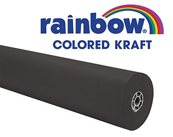 RAINBOW KRAFT ROLL 100 FT BLACK