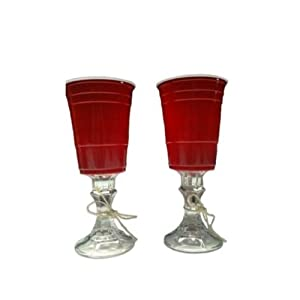 Red Solo Cup Set Of 2 Wine Glasses Original Tail Gate