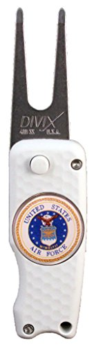 DX Switchblade Divot Repair Tool USAF White | Made in USA