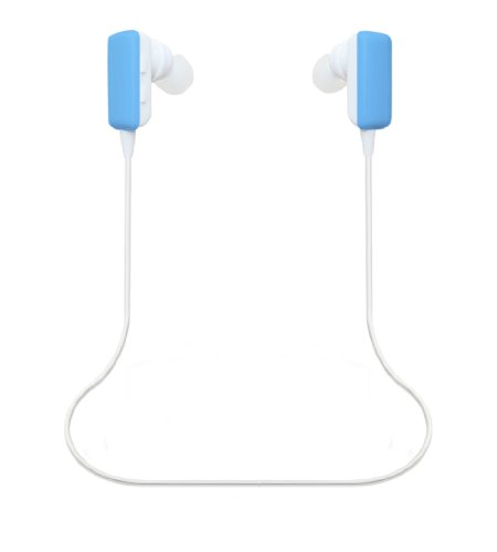 Ecsem® Mini Lightweight Wireless Stereo Sports/Running & Gym/Exercise Bluetooth Earbuds Headphones Headsets W/Microphone For Iphone 5S 5C 5, Ipad 2 3 4 New Ipad, Ipod, Android, Samsung Galaxy, Smart Phones Bluetooth Devices (Blue New Model)