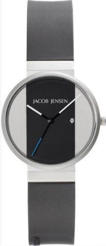 Jacob Jensen - 712 - Montre Homme - Quartz Analogique - Bracelet Caoutchouc Noir