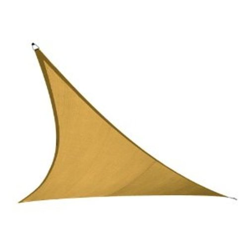 Coolaroo Triangle Shade Sail 11 Feet 10 Inches with Hardware Kit, Desert Sand
