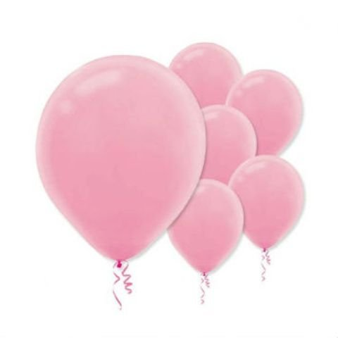 "Amscan Girls New Bulk Solid Color Latex Balloons, 12"", Pink"