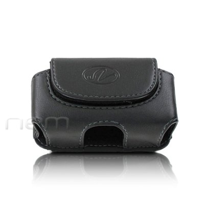 Brand New Black Color Horizontal Leather Cover Belt Clip Side Case Pouch For AT&T Z222 Z222