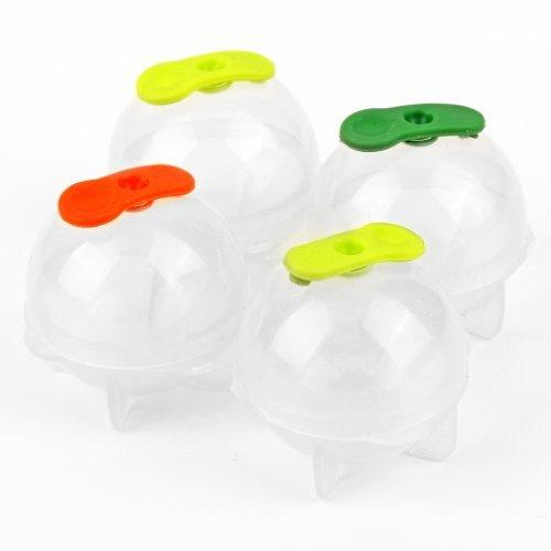 Sodial(R) - Stampini sferici di plastica per ghiaccio, ideali per feste e locali, kit da 4