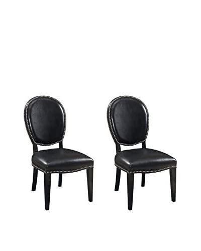 Coast to Coast Set of 2 Accent Dining Chairs, Black