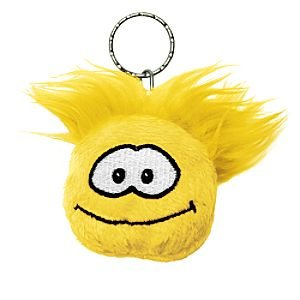 Disney Club Penguin Keychain 2 Inch Plush Puffle Yellow - 1