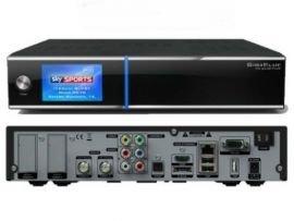 GigaBlue HD Quad PLUS schwarz 2x DVB-S2 HDTV Linux HbbTV LAN Sat Receiver inkl. 1000 GB Festplatte