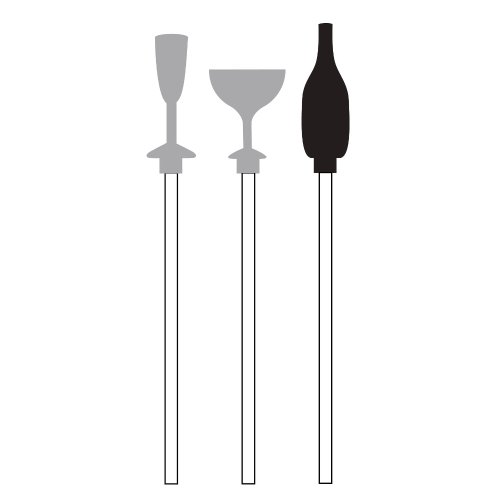 Creative Converting Assorted Plastic Cocktail Stir Sticks, Champagne Bottles and Glasses - 1