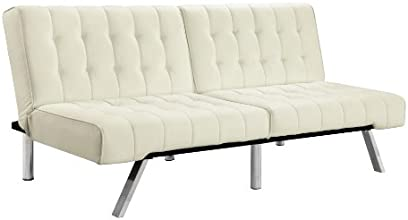 Dorel Home Products Emily Splitback Futon, Vanilla