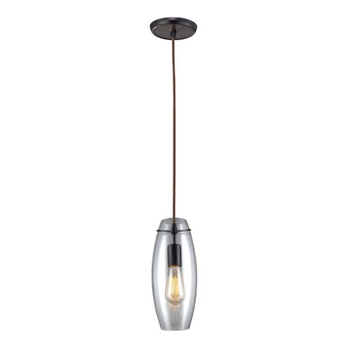 Landmark Lighting Menlow Park 60W 1 Light Pendant with Clear blown Glass