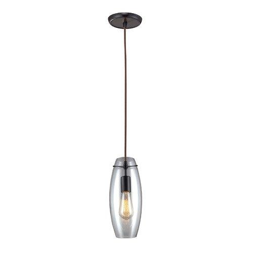 Landmark Lighting Menlow Park 60W 1 Light Pendant with Clear blown Glass modern acrylic pendant light indoor decoration lighting fixture