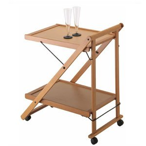 Wooden Serving & Tea Trolley: Amazon.co.uk: Kitchen & Home