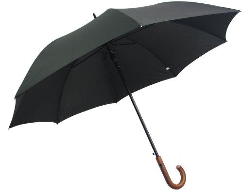 pierre-cardin-black-designer-umbrella-brown-wooden-handle-auto-open