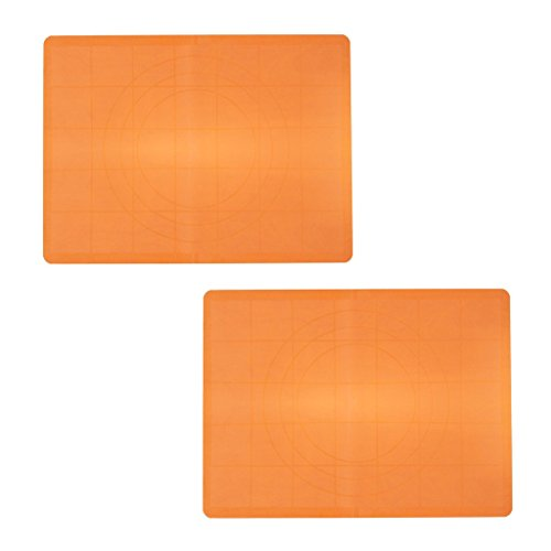KurtzyTM Pack Of 2 Large Silicone Work Mat With Guide Rings And Ruler For Baking, Cake Decorating (Play Dough Mats compare prices)