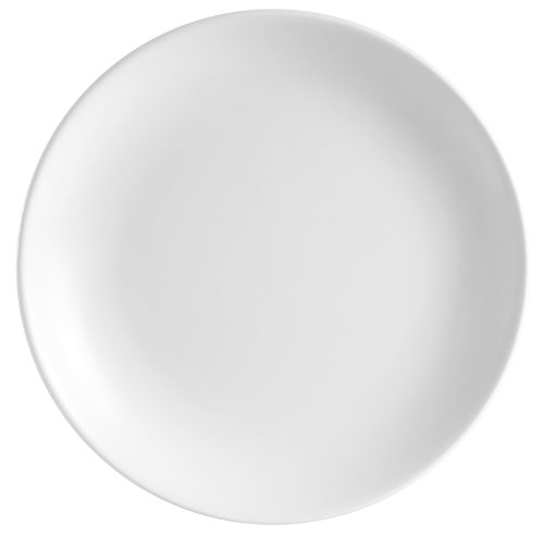 CAC China COP-22 Coupe 8-Inch Super White Porcelain Plate, Box of 36