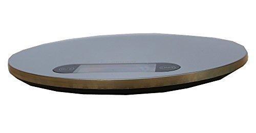 ARETOP® Balance De Cuisine électronique en Design Ultra Svelte avec Plateforme en Acier Inox & Trou d'Accrochage