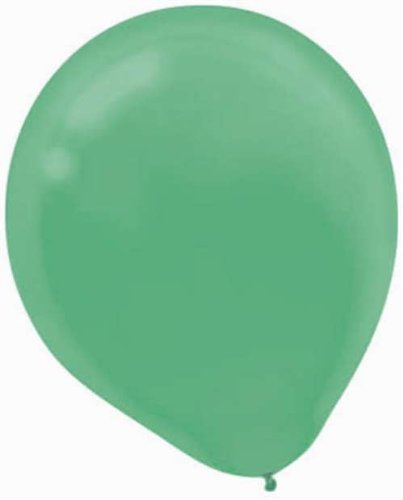 "Green Latex Balloons - 12"" - 15/Pack - 1"