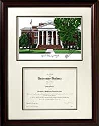 Lynchburg College Scholar Scholar Mahogany Framed Lithograph w/Diploma Opening