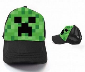 A-factory Minecraft Creeper Jj Monster Baseball Cap -black by A-factory