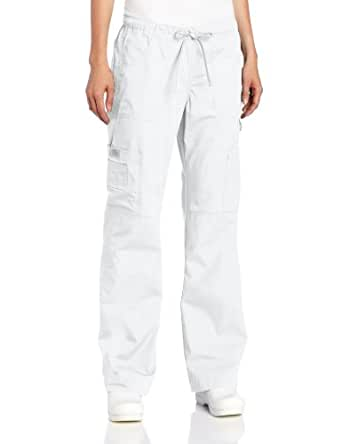 Dickies Scrubs Women's Tall Everyday Scubs Junior Fit Flare Leg Pant, White, X-Large