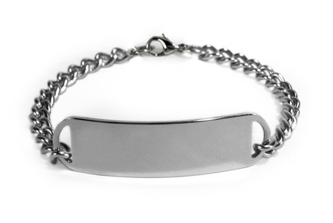 Copd Medical Id Alert Bracelet With Embossed Emblem From Stainless Steel. D-Style, Premium Series.