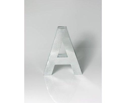 METALVETICA - lettera A, in metallo saldato a mano, appendibile e da appoggio, per interno/esterno - h 35 cm