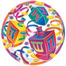 Watercolor Dreidel Dessert Plates 12ct