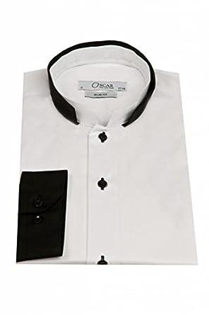 Chemise homme bicolore slim fit fashion pour soirée ou cérémonie - Blanc - 37/38-S