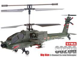 SYMA 3 Channel Large Apache Radio Control Helicopter