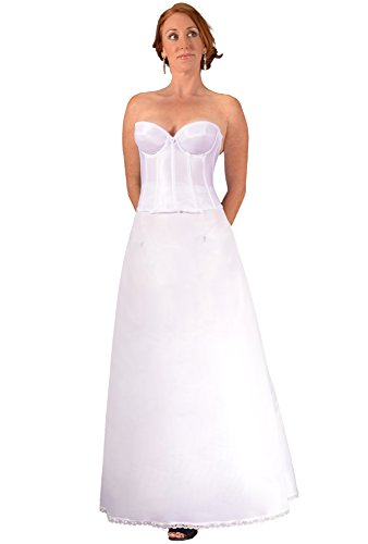 Bridal Dresses Petticoat A Line Crinoline Tulle Slip for Wedding Gown & Bridesmaid at Beach Weddings to Prevent Sheer and Display Dress Embellishments. Plus Size Avail. Save on Costly Hem Alterations - Give Your Dress the Shape it Needs - Buy Now!