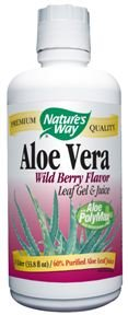 Aloe Vera Gel & Juice Berry Nature's Way 1 Liter Liquid