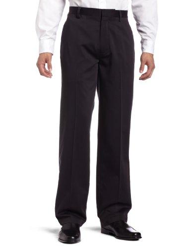 dockers-mens-never-iron-essential-khaki-classic-flat-front-pantblack34x32