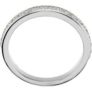 14K White Gold Semi-Mount Engagement Ring or Matching Band Size: 12