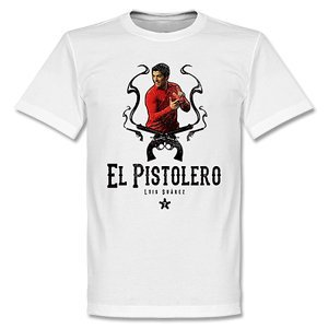El Pistolero Luis Suarez Liverpool T-shirt-L from Retake